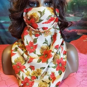 Handmade mask attached to scarf